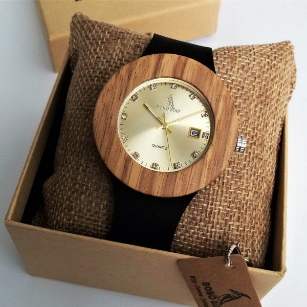 Drevené hodinky CITY