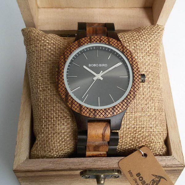 Drevené hodinky LUX