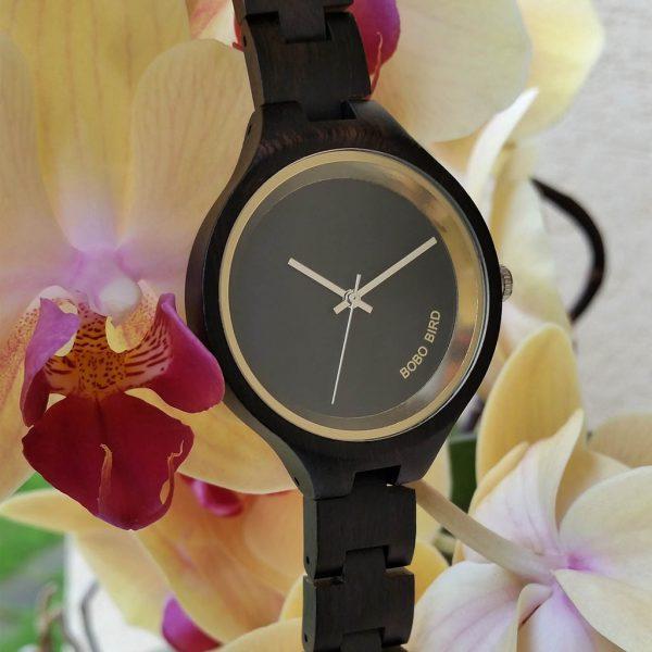 Drevené hodinky NAOMI