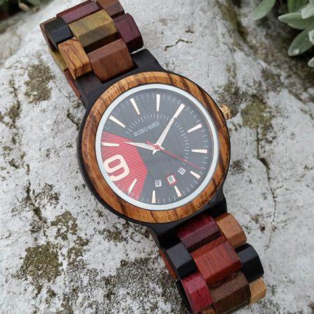Drevené hodinky RED NINE