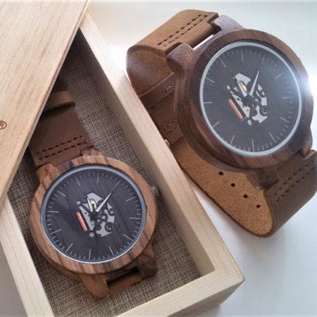 Drevené hodinky TECHNO