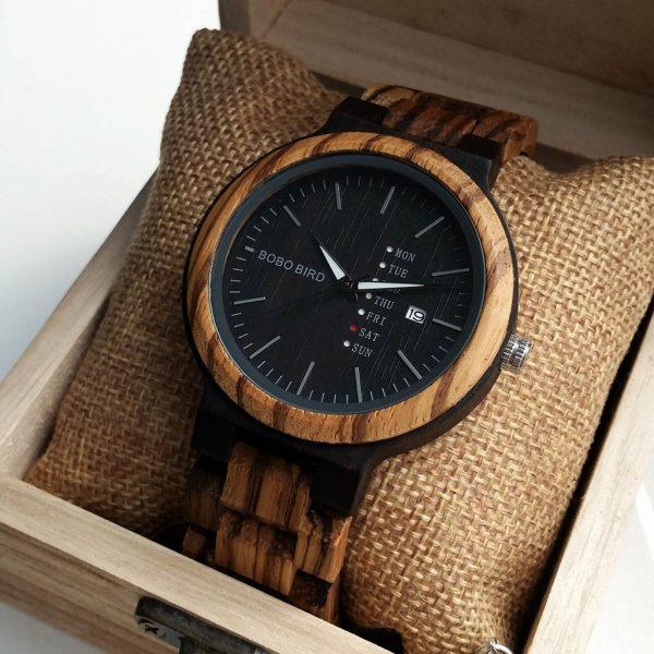 Drevené hodinky ZEBRANO BLACK
