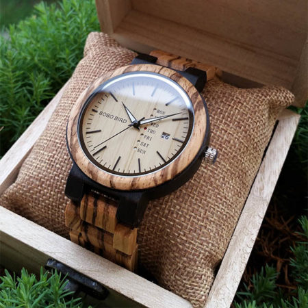 Drevené hodinky ZEBRANO BROWN