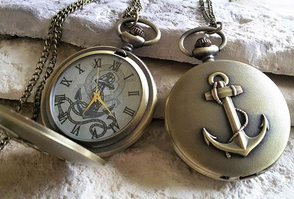 vreckové hodinky kotva