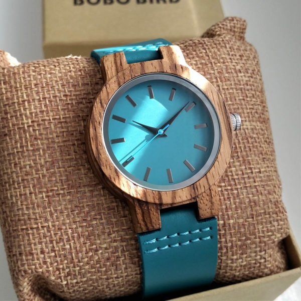Drevené hodinky BLUE