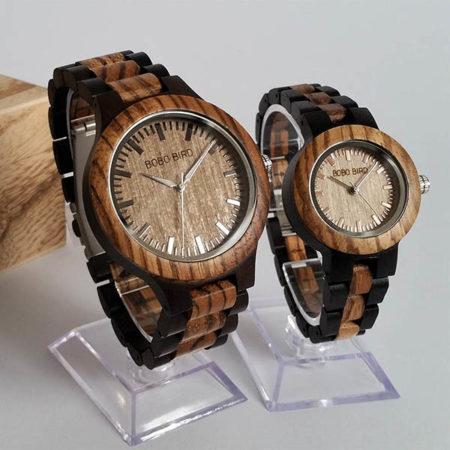 Drevené hodinky BONNIE & CLYDE