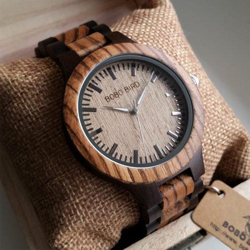 Drevené hodinky CLYDE