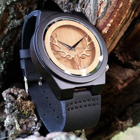 Drevené hodinky EBONY