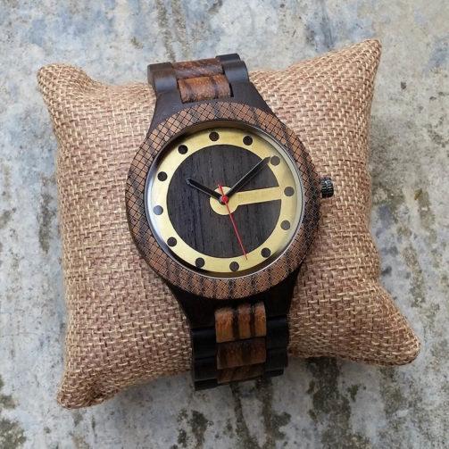 Drevené hodinky RETRO BROWN