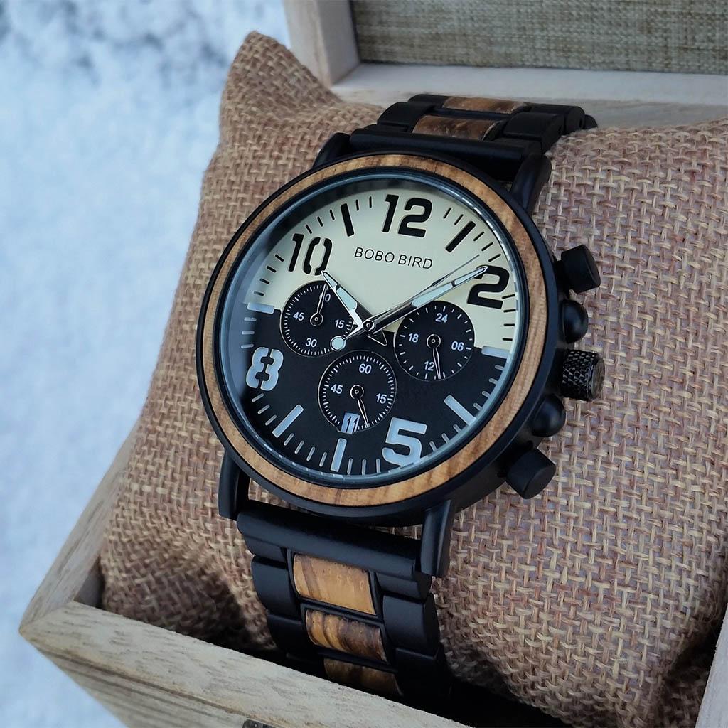 36cd79e24 Drevené hodinky TOWN zo zebrového dreva - VINI.sk