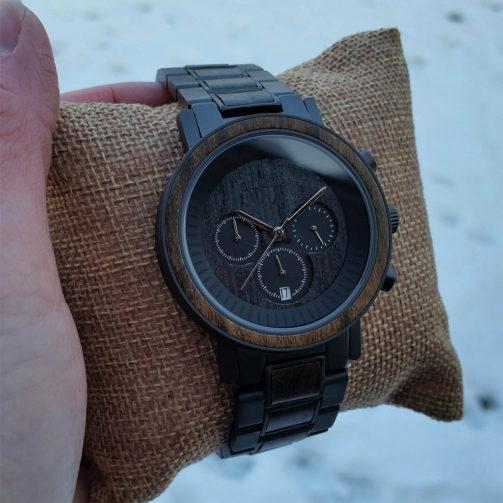 Drevené hodinky COAL STEEL