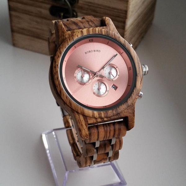 Drevené hodinky DAISY
