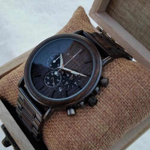 Drevené hodinky K2