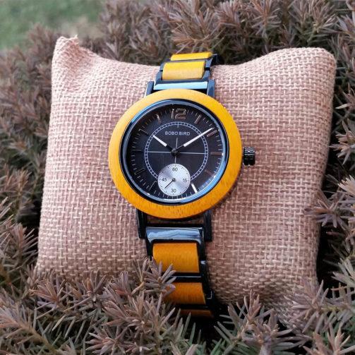 Drevené hodinky TRINITY