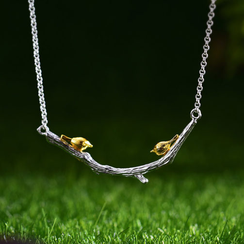 Strieborný náhrdelník Čin čin