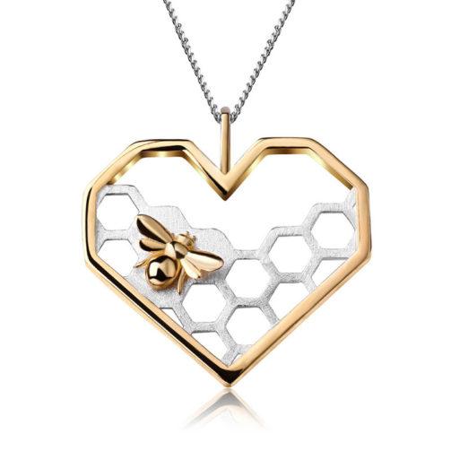Strieborný prívesok Medová láska