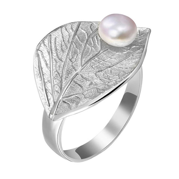 Strieborný prsteň Biele ráno