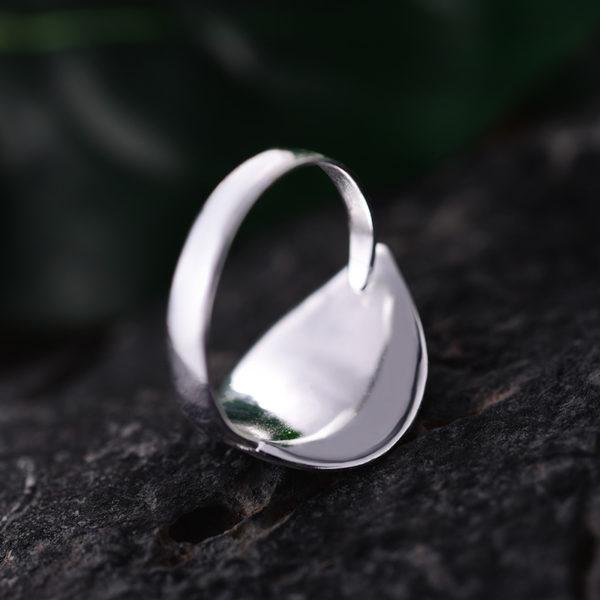 Strieborný prsteň Zlatý večer