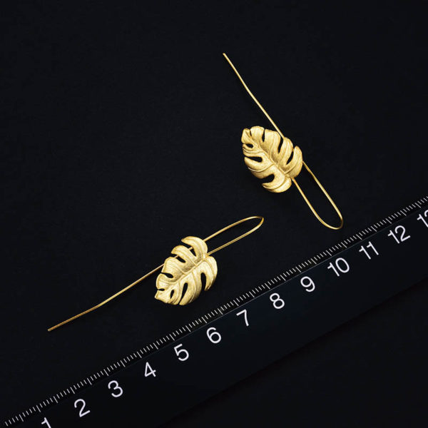 Strieborné náušnice Amazonky zlaté