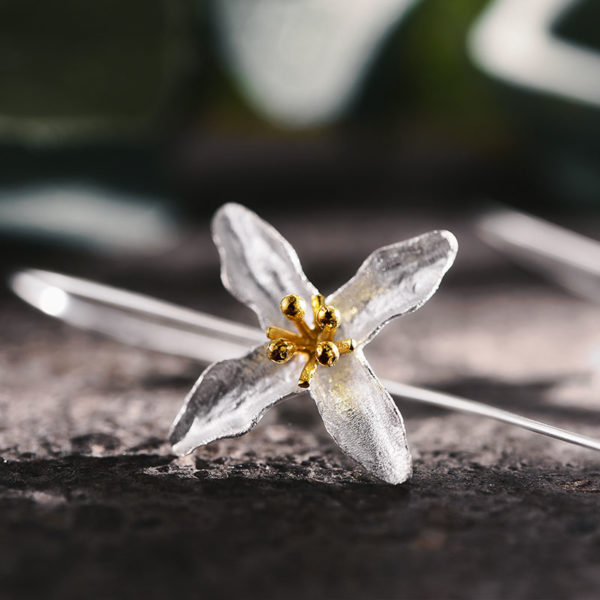 Strieborné náušnice Jarná krása