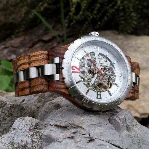 Mechanické drevené hodinky ABSOLUT