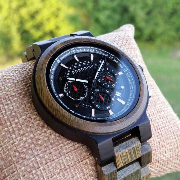 Drevené hodinky ARMY