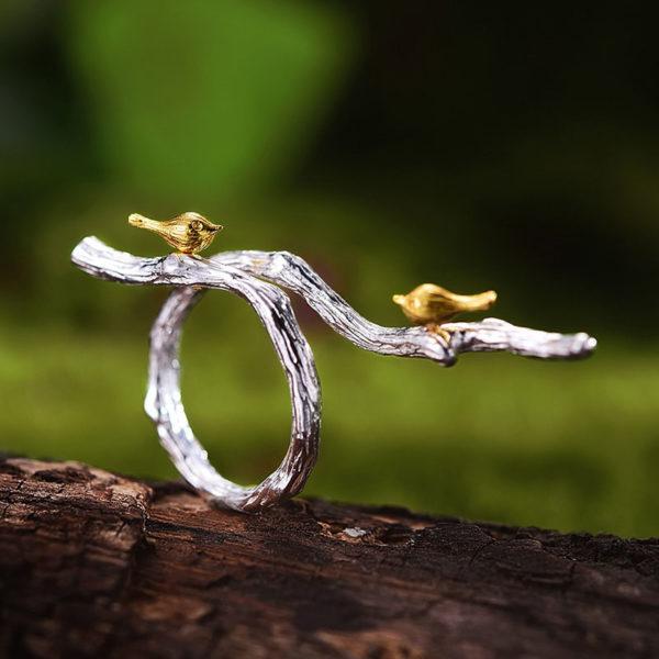 Strieborný prsteň Čin čin