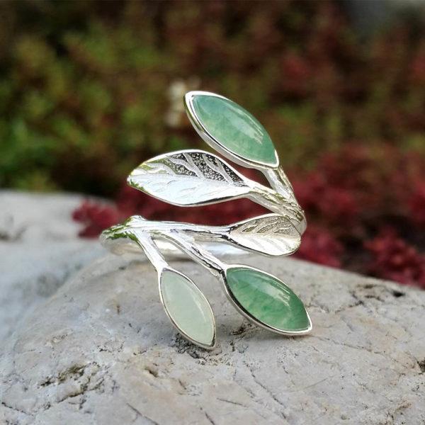 Strieborný prsteň Dotyk prírody