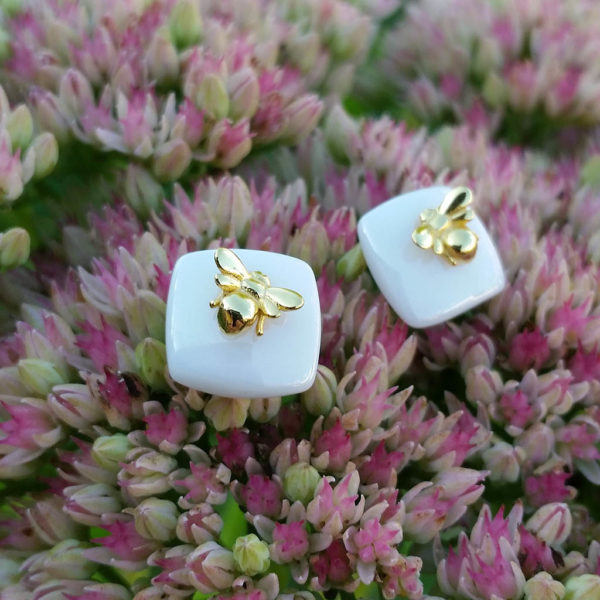 Strieborné náušnice Medulienky zlaté