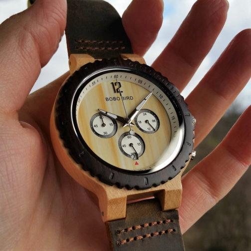 Drevené hodinky CROWN