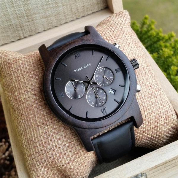Drevené hodinky JOE LEATHER
