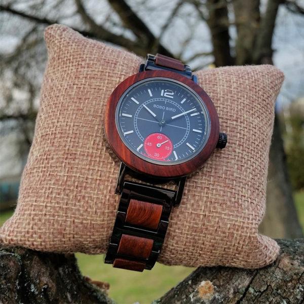 Drevené hodinky SAGA