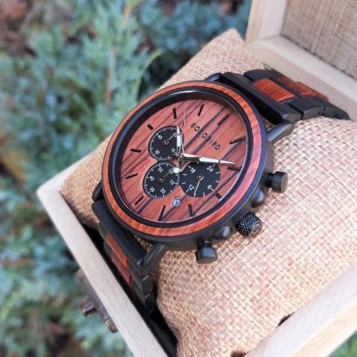 Drevené hodinky WILD RED