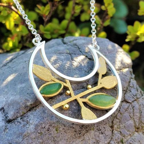 Strieborný náhrdelník Dotyk prírody