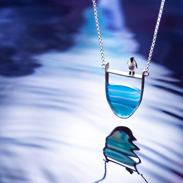 Strieborný náhrdelník Ľadové kráľovstvo