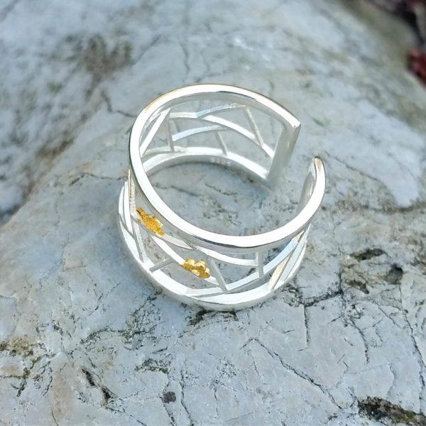 Strieborný prsteň Sláviček