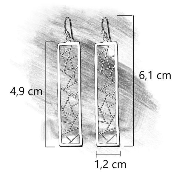 Strieborné náušnice Sláviček