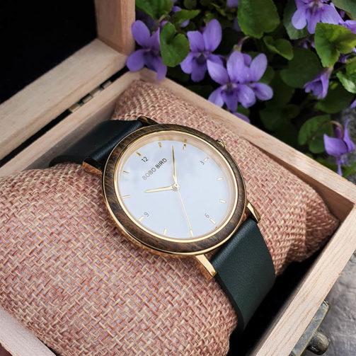 Drevené hodinky LEAF
