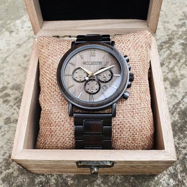 Drevené hodinky PILOT