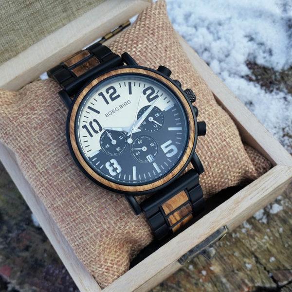 Drevené hodinky TOWN